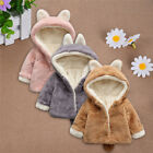 Toddler Boy Girl Winter Warm Coat Cotton Blend Hooded Outerwear Jacket Clothes