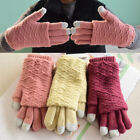 Unisex Knit Touch Screen Gloves Wool Women Girl Winter Keep Warm Mittens Gloves