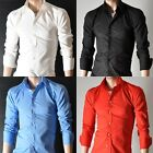 Satori Clothing Mens Long Sleeve 100% Cotton Shirts XS S M L XL XXL