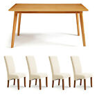 Dining Room Table and Chair Set of  4 or 6 Solid Oak Modern Kitchen Furniture