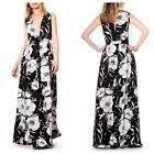 Gracia Women's Floral Maxi V Neck Dress