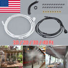 Outdoor Misting System Patio Cooling Mister Kit Air Cooler Pool 10 20 30 40FT US