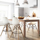 Eiffel Style Dining Chair Kitchen Home Furniture Bar Stool Wood Legs White