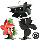 Heat Powered Wood Log Burning Mini Stove Top Fan 2, 3 & 5 Blade Design Fans