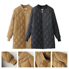 Womens Long Jacket Coat Autumn Winter Oversize Cotton Padded Outwear Down Coat