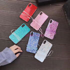 For iPhone X 8 6S 7 Plus Luxury Bling Sparkle Glitter Soft Gel Strap Case Cover