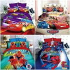 Quilt Doona Duvet Cover Set Bed Cars McQueen Single/Double Size Bed Pillow Cases