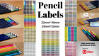 Personalised Pencil Name Label Stickers - Pencil 22*09mm Dishwasher Safe