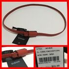 RUDSAK (Canada) Women's Leather Belt 'NINA' Deep Coral Color Size Small NWT
