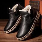 Men's Winter Warm Leather Snow Boots Ankle Boots Dress Shoes High Top Outdoor