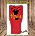 Monogram Vinyl Decal For Your Tumbler,Cups Sticker, Hunting