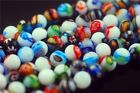 Bulk Round Colorful Flower Millefiori Glass Beads Loose Spacer Finding Charms