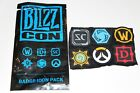 BLIZZARD BLIZZCON 2017 BACKPACK VELCRO BADGE PATCH + FLOOR EXCLUSIVES YOU PICK <br/> PICK FROM 41 DIFFERENT ITEMS BUY 2 GET 1 50% OFF