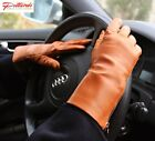 BRAND NEW! Cognac Classic Leather Gloves with zipper! BRAND NEW
