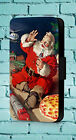 Santa Claus Vintage Coca Cola Christmas Seasonal  Phone Cover Leather Flip Case £8.99  on eBay