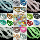Внешний вид - wholesale 50Pcs Crystal Glass Faceted Loose Spacer Rondelle Beads Finding 8mm