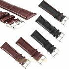 Mens Genuine Leather Watch Strap Band Croco RM S.Steel Buckle and Spring Bars image