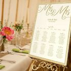 Personalised Wedding Table Seating Plan-MRS&MRS-MR&MR-MR&MRS - 4 SIZES