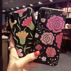 Fashion Lovely Cute Embroidery Flowers Soft Case Cover For iPhone X 6S 7 8 Plus