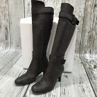 DOROTEA Brown Metallic Nubuck Leather Knee High Boots Women's SIZE UK 6 28094