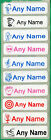 35 Printed iron on Name Tags tapes Custom Labels School clothes personalised