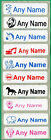 75 Printed iron on Name Tags tapes Custom Labels School clothes personalised
