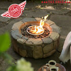 Outdoor Bowl Propane Gas Fire Pit Patio Backyard Fireplace Heater + Tank Table