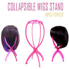 Collapsible Wigs Stand Hanger Hanging Hat Cap Dryer Durable Support Holder Pink