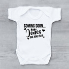 Pregnancy Baby Announcement Coming Soon Baby Vest Grow Bodysuit Personalised