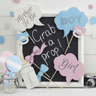 Baby Shower / Gender Reveal Photo Booth Props - 10 Pcs - Male/Female WI