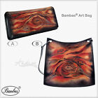 Designer Bambas Art Hand Painted Engraved Leather Clutch/ Crossbody or Tote Bag