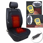 Black Heated Car Seat Chair Cushion DC 12V Heating Warmer Pad Hot Cover