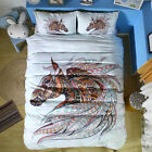 Twin Full Queen King Bed Set Pillowcase Quilt Cover oauR Colorful Horse mzm