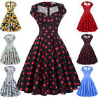 Belle Poque Ladies Housewife Ploka/Floral Swing Pinup 50s 60s Retro Dress