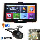 7'' 8GB Car GPS Navigation Bluetooth AV-IN Navigator Map+Backup Reverse Camera