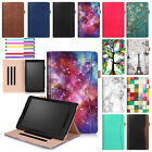 """Wake/Sleep Leather Stand Wallet Luxury Case Cover For Kindle Fire 7/HD 8""""/HD 10"""""""