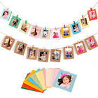 10Pcs Hanging Paper Frame Photo Album String Art Clips Rope Picture Wall Decor