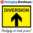 DIVERSION AHEAD SAFETY STICKER RIGID CS174 INDOOR OUTDOOR SIGN Buy 2 get 1 Free