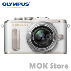 Olympus PEN E-PL8 Mirrorless Camera 14-42mm EZ Lens kit - Black White Brown