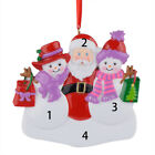 MAXORA Snowman Ladies and Santa Personalized Christmas Ornament  Christmas Gift