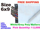 6x9 Poly Mailers Shipping Envelopes Self Sealing Mailing Bags Pick 1-2000 bags