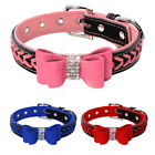 5pcs/lot Rhinestone Braided Leather Dog Collars for Pet Puppy Chihuahua XS S M L