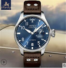 Awsky Men Automatic Watch 24Jewels Pilot Watches Energy Display Date