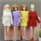 30cm Fashion Knitted Handmade Sweater Clothing for Barbie Dolls 5 color Gift Lot