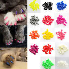 20Pcs Simple Rubber Pet Dog Cat Paw Claw Control Nail Caps Cover +Adhesive Glue