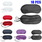 10*Blindfold Sleep Eye Mask Travel Shade Blinder Soft Eyeshade Sleeping Rest Aid