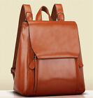 Classic Womens School Double Zip Synthetic Leather Fashion Computer Bag Backpack