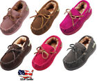 NORTY Little Kids/Toddler Boys Girls Suede Leather Moccasin Slip On Slippers