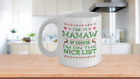 I'm a Mamaw Of Course I'm on the Nice List Mug
