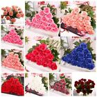 Artificial Rose Flowers Bouquet Wedding Party Home Decor Latex Real Touch US